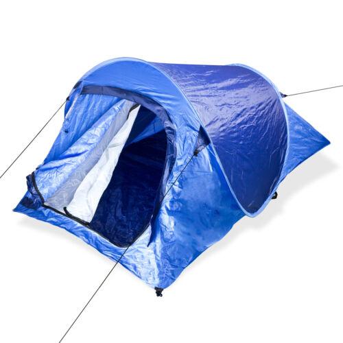 Wurfzelt Zweimannzelt Festivalzelt Pop up Campingzelt Automatikzelt Zelt blau
