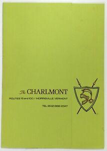 1972-Original-Vintage-Menu-THE-CHARLMONT-Restaurant-Morrisville-Vermont