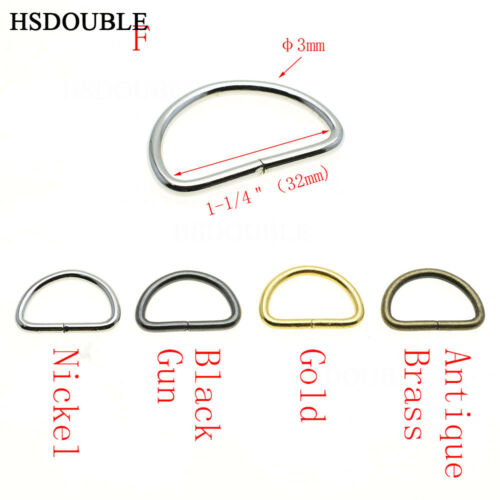 Non-Welded Nickel Plated D Ring Semi Ring Ribbon Clasp Knapsack Belt Buckle