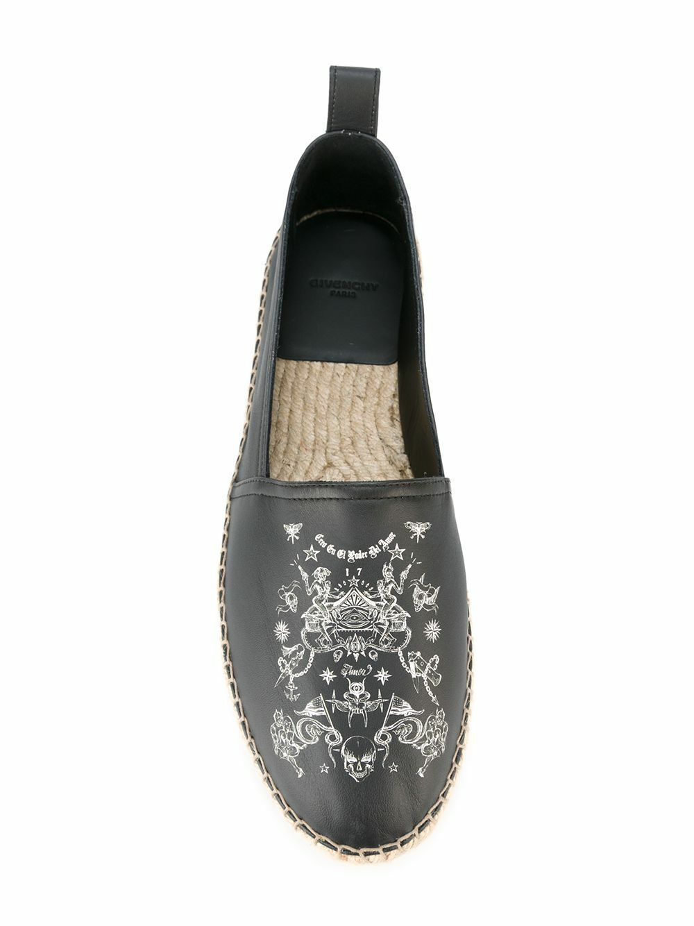 Authentic Givenchy UK7 neri in pelle stampata Espadrillas ci UK7 Givenchy 8 EU41 RRP 584480