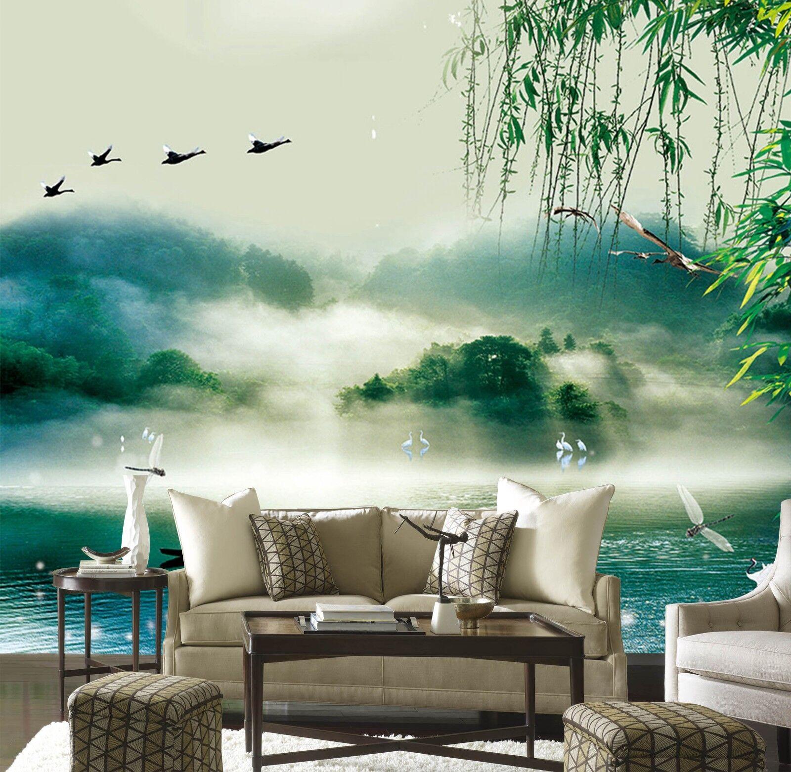 3D Landschafts Weide 888 Tapete Wandgemälde Tapeten Bild Familie DE Lemon