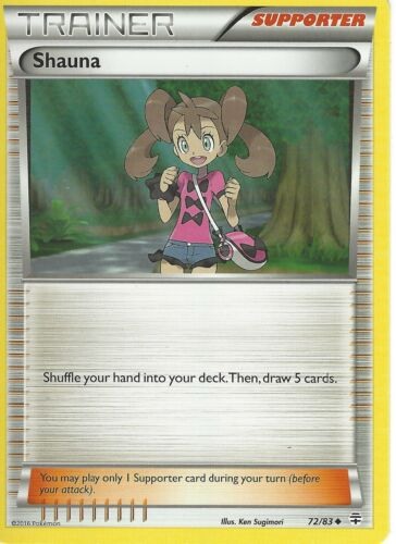 POKEMON GENERATIONS TRAINER CARD SHAUNA 72//83