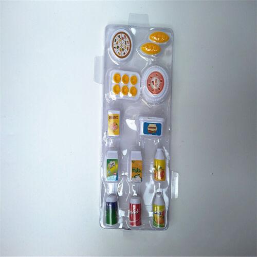 Casa De Muñecas Mini simulación alimentos beba leche 12 piezas conjunto de accesorios de restaurante