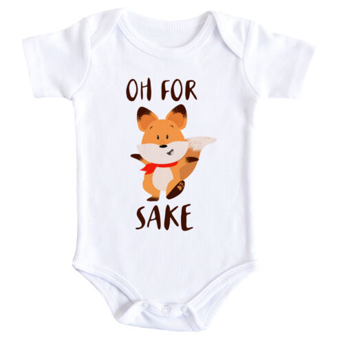 Funny Fox Baby Bodysuit Cute Clothing Humour Baby Grow Vest Baby Shower Gift