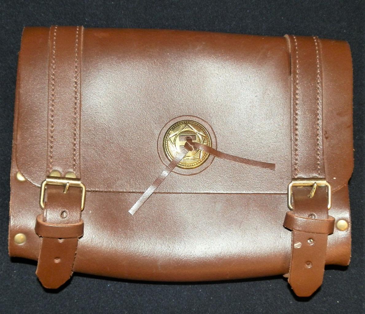 Vintage braun Leather Western Saddle Tasche