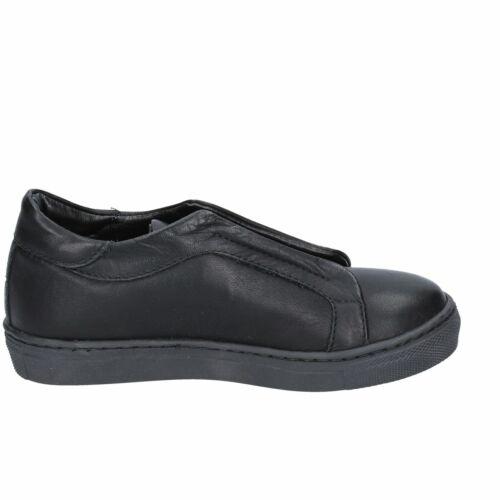 HOLALA Scarpe Bambina Sneakers Slip On Blu Nero in Pelle Camoscio Glitter