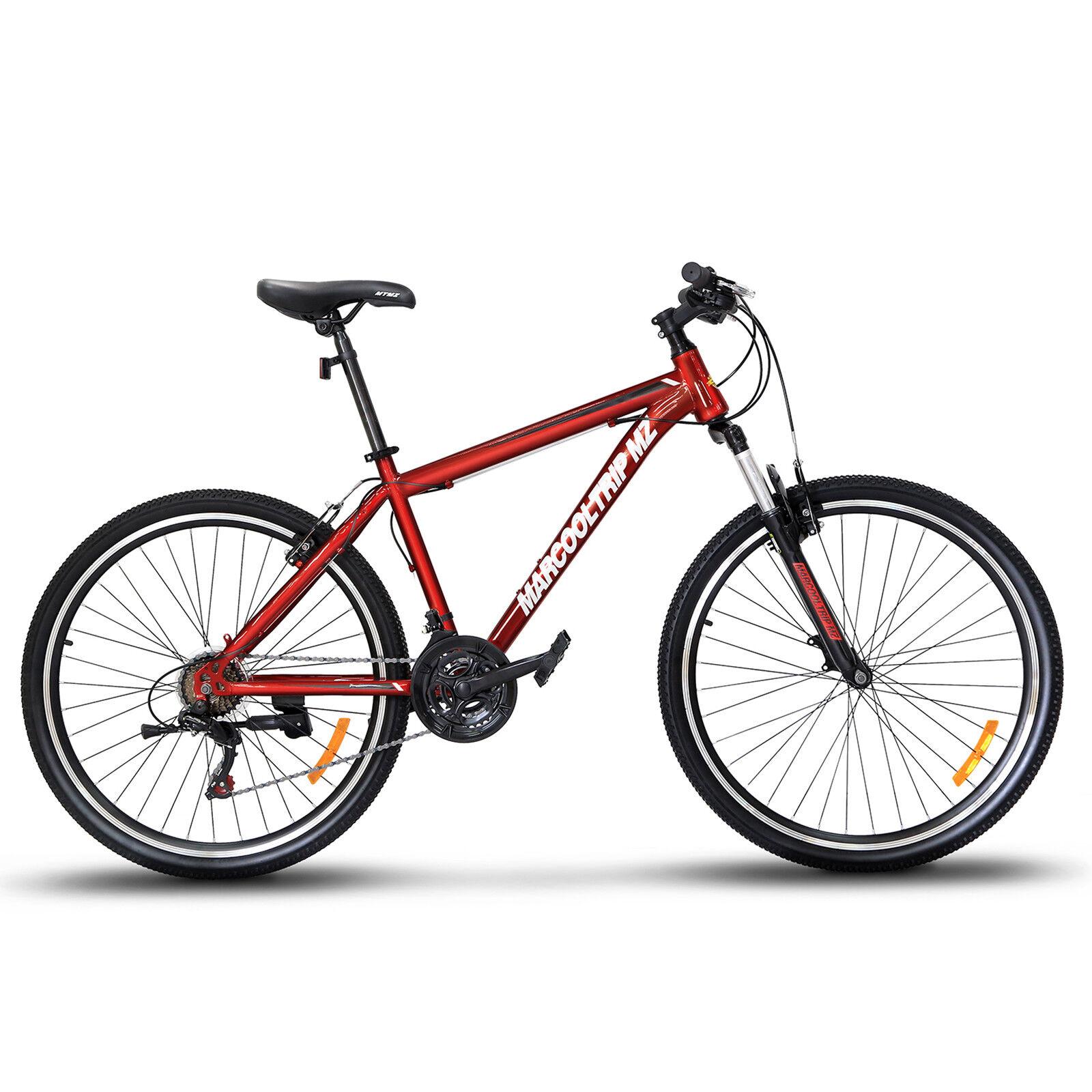 27.5  Men's Mountain Bike Hybrid 21 Speed Front Suspension Shimano Bicycle Red
