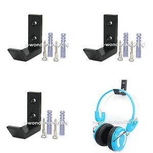 4Pcs Universal Headphone Holder Earphone Headset Desk Hanger Rack Stand Display