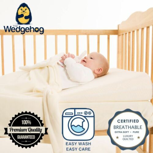 Bamboo Wedgehog® Deluxe with Free Bundled eBook 60cm Cot Reflux Wedge