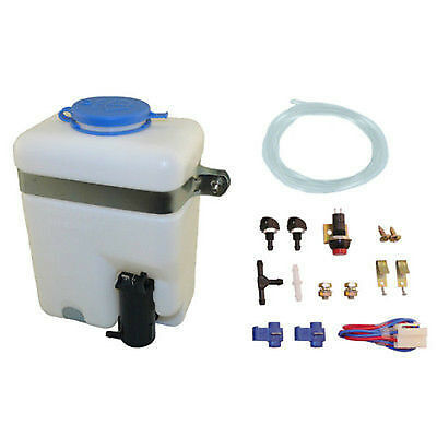 Windshield Washer Tank Bottle Pump tank fits Universal use 12V with accesories