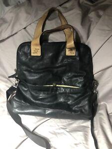 Cynthia Rowley Black Rich Leather Tote