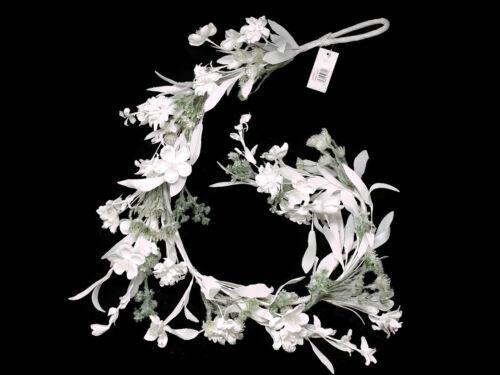 Artificial guirnalda de flores silvestres X 118cm Blanco Algodón Flor Colgante Swag