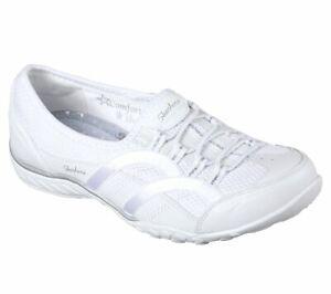 Skechers-Relaxed-Fit-Breathe-Easy-Memory-Foam-Slip-On-Casual-Womens-Shoes-23203