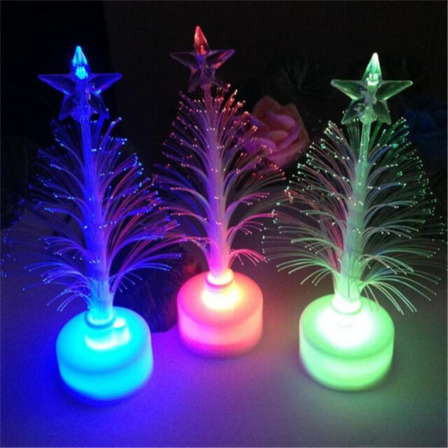 Colorful LED Fiber Optic Nightlight Christmas Tree Lamp Light Children Xmas A