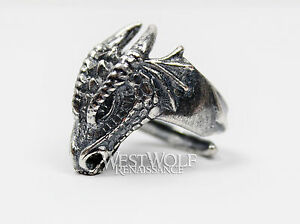 Dragon-Head-Ring-925-Sterling-Silver-Size-7-8-9-10-11-12-Viking-Norse-Skyrim