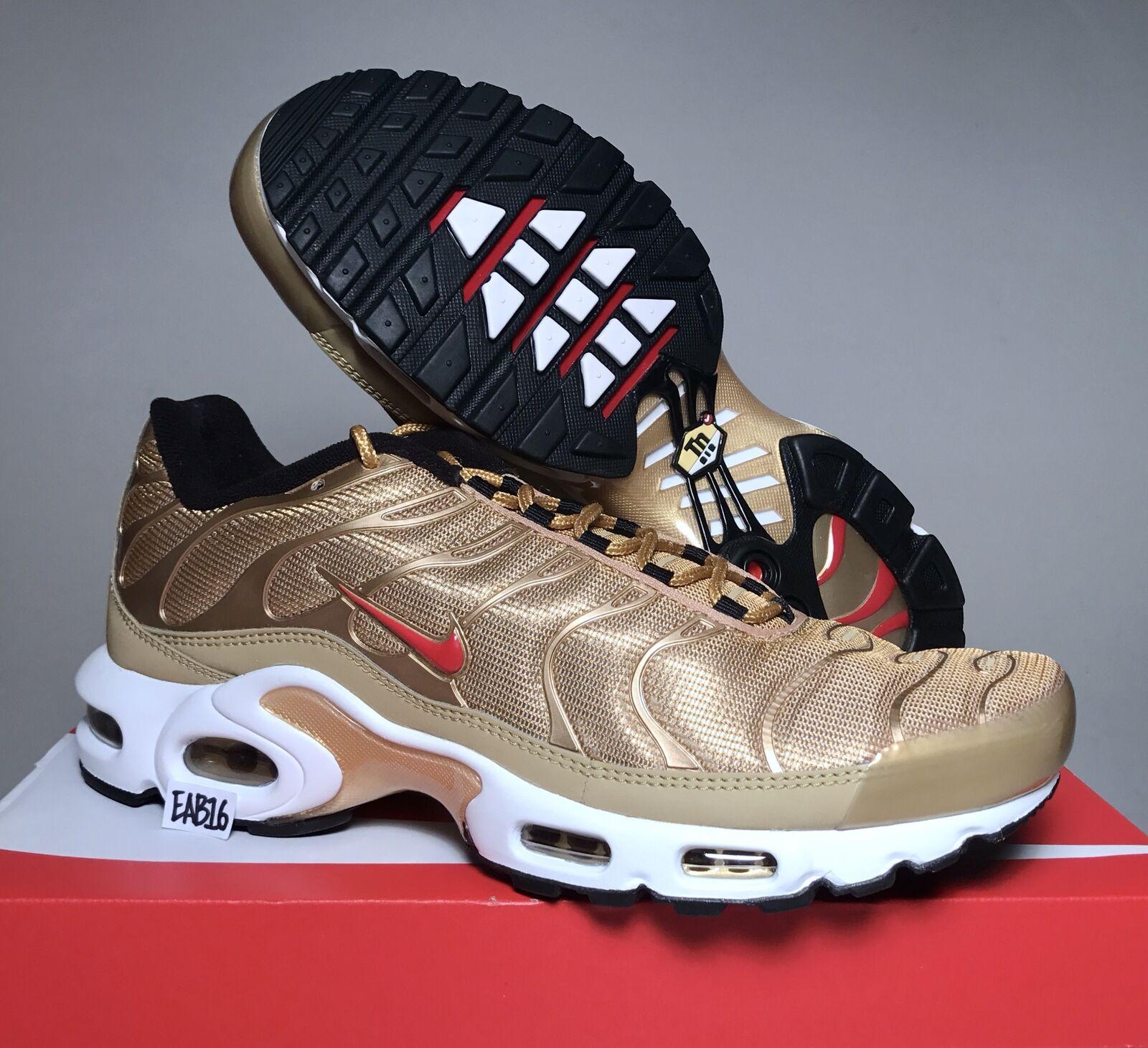 Nike air max inoltre qs in oro metallico 887092 700 2017 og dimensioni 1013 - bianco - rosso