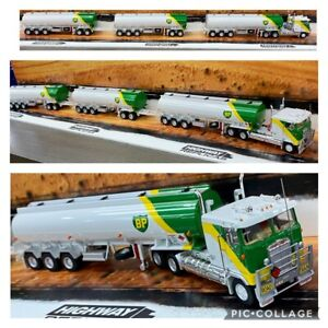 REPLICAS-BP-TANKER-ROAD-TRAIN-1-64-TRAILER-amp-DOLLY-TRUCK-LIMITED-EDITION-COA
