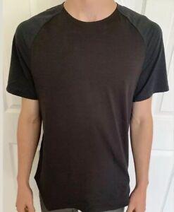 Lululemon-Men-Size-XL-Always-Agile-Short-Sleeve-Obsidian-OBSI-Quick-Dry-Run-SS