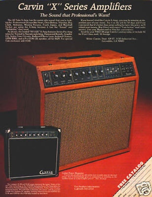 TUSC GUITAR AMP PINUP AD vtg 80/'s stack head amplifier
