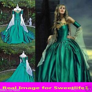 Vintage Medieval Renaissance Ball Gown Evening Princess Dresses Prom
