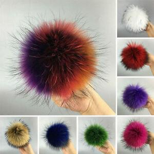 Real-Fox-Fur-Fluffy-Pom-Pom-Ball-Silk-Braid-Bag-Charm-Pendant-Key-Ring-Keychain