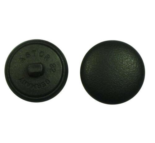 Misura per Selezione Bottoni pelle Cuoio Pulsante Nero Vera pelle