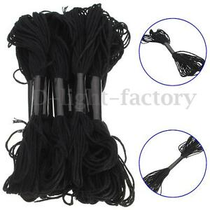 12Pcs-Cross-Stitch-Thread-Embroidery-Cotton-Crochet-Floss-Skein-Handmade-Black