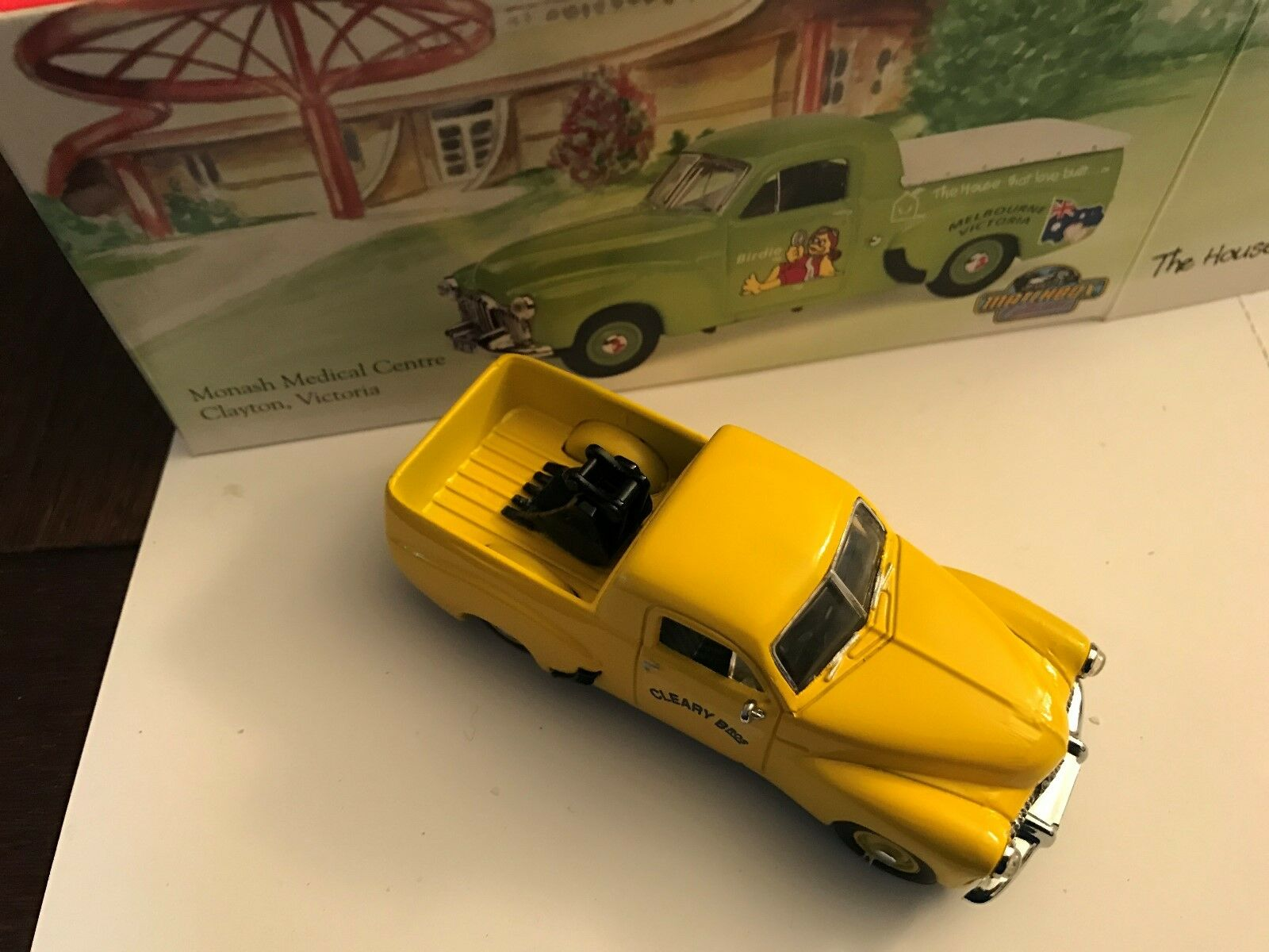 Rare, yhn-1 Holden  Cleary Bros  amarillo, Matchbox, moy, código 2, with Box