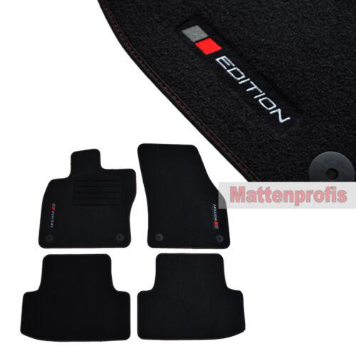 Alfombrillas profesionales gamuza logotipo tapices adecuado para Seat Ateca a partir del año 06//2016 B rojo