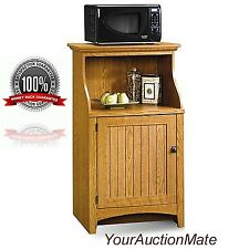 Microwave Stand Kitchen Cart Storage Toaster Oven Utensils Cannisters Pots  Pans