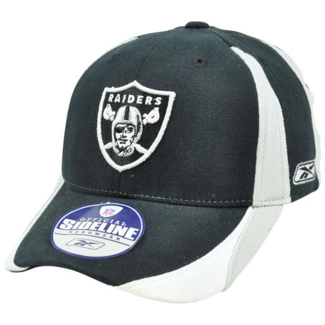 NFL Sideline Equipment Oakland Raiders Flex Fit Reebok Rbk Kids Child Hat  Cap f45911d147f