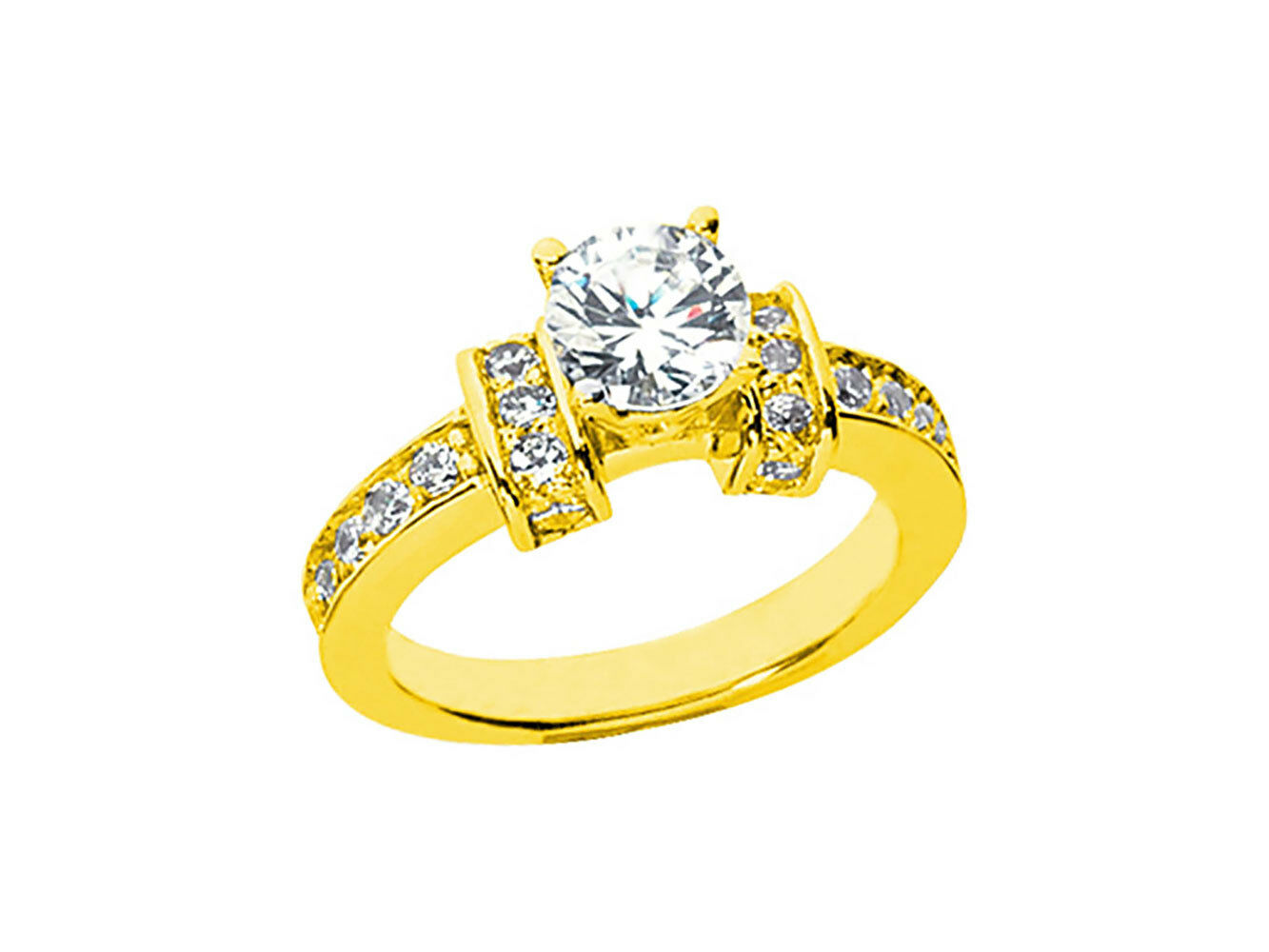 0.75Ct Round Brilliant Cut Diamond Engagement Ring Solid 14k gold I SI2