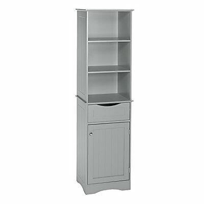 RiverRidge Ashland Collection-Tall Cabinet-Gray NEW