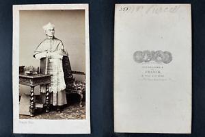Franck, Paris, John Baptist Purcell, archevêque Vintage cdv albumen print.John