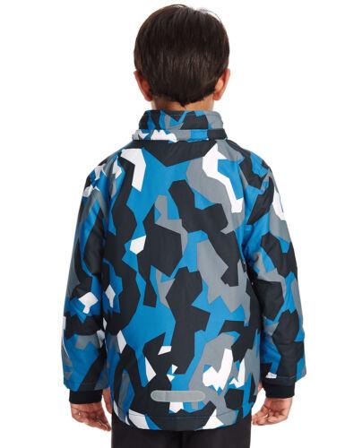 M/&S Thinsulate™ Ski Mountain Print Hooded Fleece Lined Boys Winter Coat