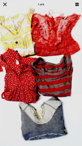 We The Free Free People LOT 5 Pieces. Tops Red Gra