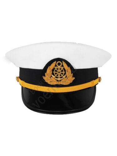 Russian Yachtsman Peaked Cap Service Ship Сaptain High Crowned Steering Wheel