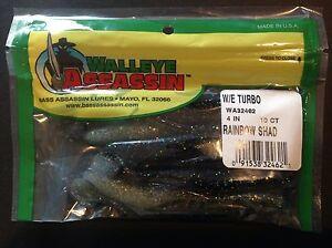 Bass-Assassin-Walleye-Assassin-Turbo-Shad-4-034-10-pk-WA32462-Rainbow-Shad