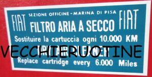 ADESIVO-STICKER-FILTRO-ARIA-MARINA-DI-PISA-AIR-FILTER-FIAT-127-126-500-128-600