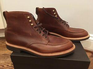 760db7fcc62 Details about J. Crew Men's Kenton Leather Pacer Boots Dark Brown Sz 12  (orig $248) C8867 NIB