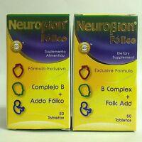 2 Pk Neurobion Folic + B Complex 50 Tabs / Neurobion Folico + Complejo B