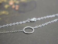 Silver Karma Bracelet - Sterling Eternity Infinity Ring Circle Friendship Chain