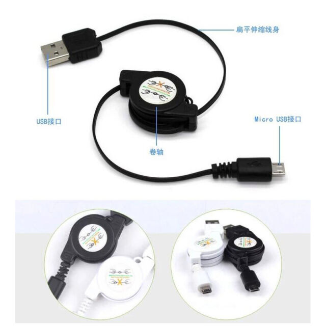 Retractable USB Sync&Charger Cable for HTC Mobile Phone4 /4s/5/5s/5c/6/6s/7 PLUS