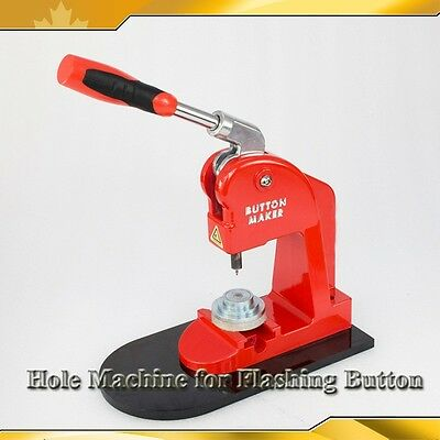 "RED New R1.8mm(0.07"") Hole Punch Grommet Press Machine for Flashing Button Maker"