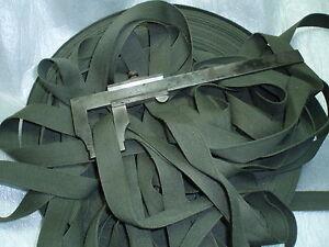 GALON-SANGLE-legere-vert-armee-5-rouleaux-de-100mt-21x1