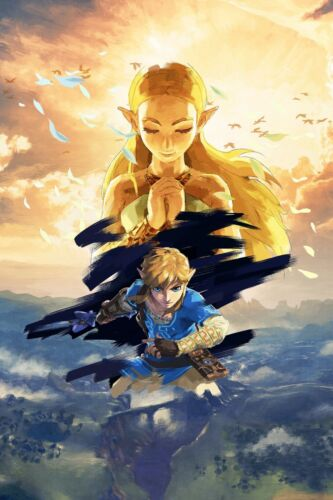 Poster A3 The Legend Of Zelda Breath Of The Wild Link Videojuego Videogame  12