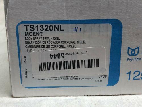 Polished Nickel Moen Mosaic Single Function Shower Body Spray TS1320NL