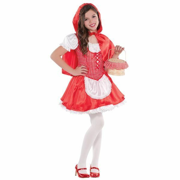 Childrens Kids Little Red Riding HoodFancy Dress Costume Book Week Outfit S