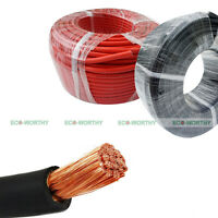 Welding Cable 1/0 Red 10' Car Battery Leads Usa Gauge Copper Awg