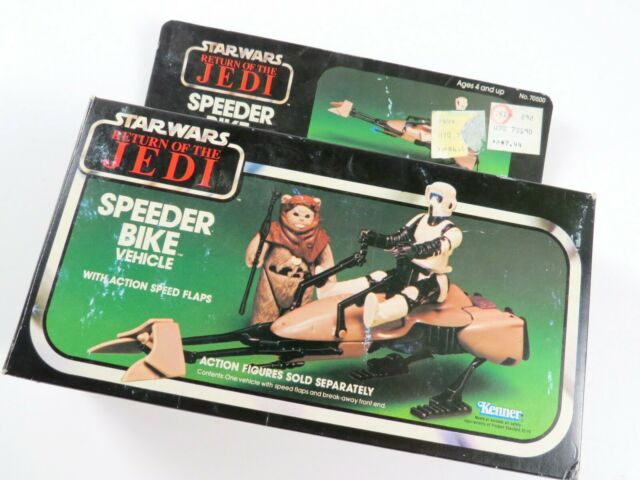 Star Wars Return of the Jedi Speeder Bike Vehicle, 1983 Kenner Vintage Open Box